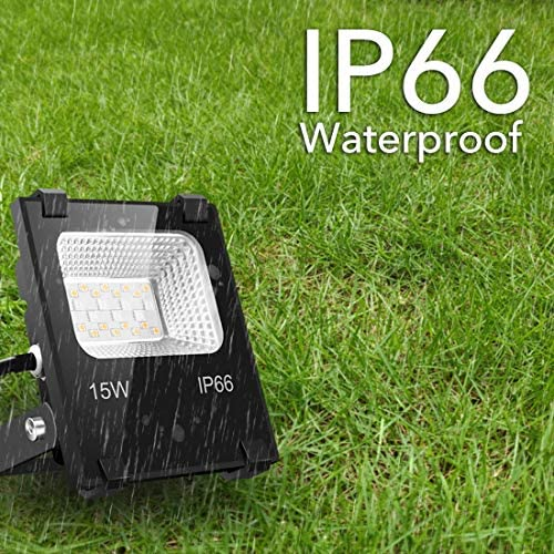 LED Flood Light 100W Equivalent RGB Color Changing, Outdoor Smart Floodlights RGBW 2700K Warm White & 16 Million Colors, 20 Modes, Grouping, Timing, IP66 Waterproof (2 Pack)