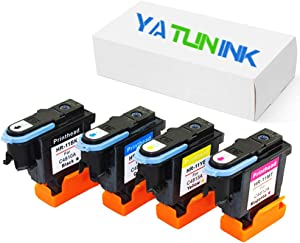 YATUNINK Remanufactured Print head Replacement for HP 11 Printhead 11 Printer Head C4810A C4811A C4812A C4813A Printhead (1 Black+1 Cyan+1 Magenta+1 Yellow , 4 Pack)