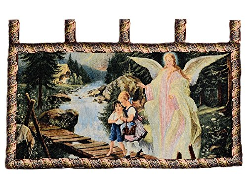 - Tache Home Fashion 12908A Angel And Children On A Bridge Tapestry Wall Hanging, Multicolor, 43