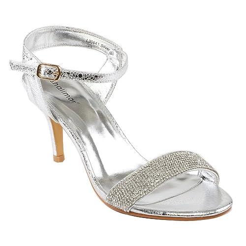 Sandalias Fino Tacón Para MujerCon Shalimar Shoes Tiras De f6IYgvb7y