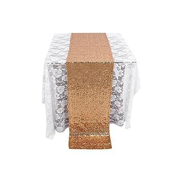 Fdit Glitter Pailletten Tischlaufer Tischdeko Tuch Hochzeit Party