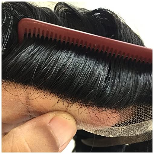 1d6fb8c30 Fine Mono With 3 Pu Bands With 1 Inch French Lace Front Human Hair Men's  Toupee Hair Replacement System
