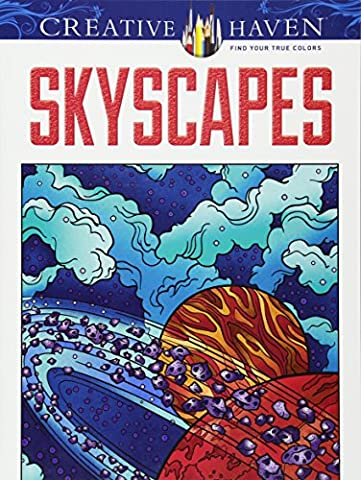Creative Haven SkyScapes Coloring Book (Adult Coloring) - Creative Scrapbooking