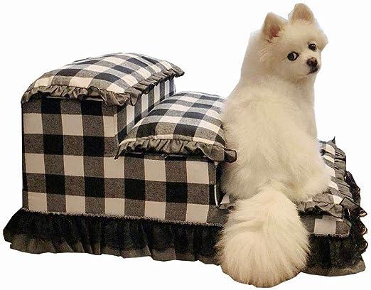 Escalera de Mascota Pequeño Gato Pasos Escaleras para Perros para Camas Altas Y Sofá Alto, 3 Step Pet Stairs, Blanco, Extraíble, Lavable (Color : C): Amazon.es: Productos para mascotas