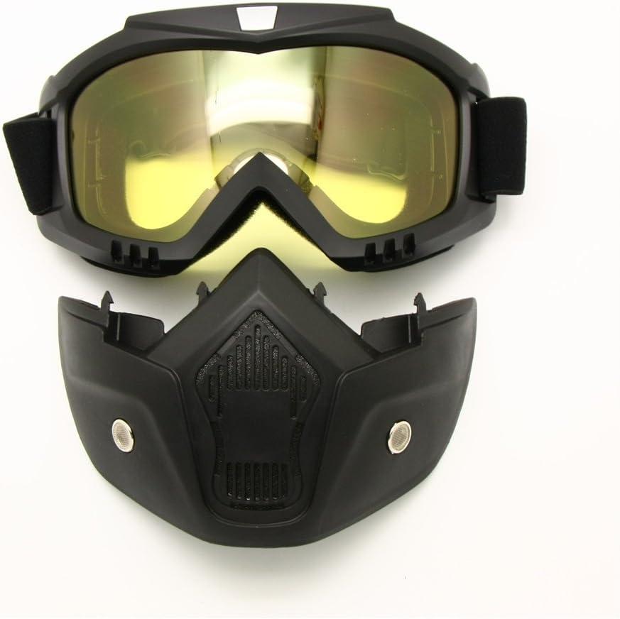 Motocicleta Bici de la Suciedad ATV Gafas M/áscara Desmontable Proteger Acolchado Casco Gafas de Sol Montura en Carretera UV Gafas de Moto