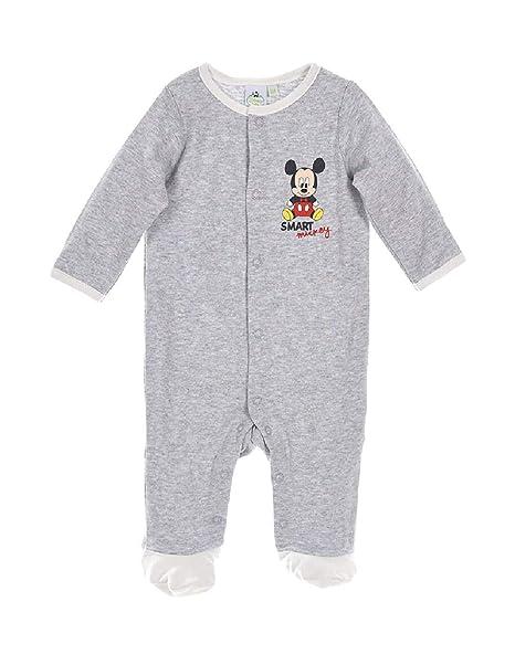 Mickey Mouse - Pelele para dormir - para bebé niño gris 6 mes : Amazon.es: Ropa y accesorios