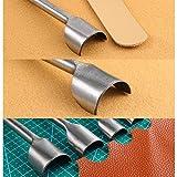Caydo 8 Pieces Leather Craft Tools Half-Round