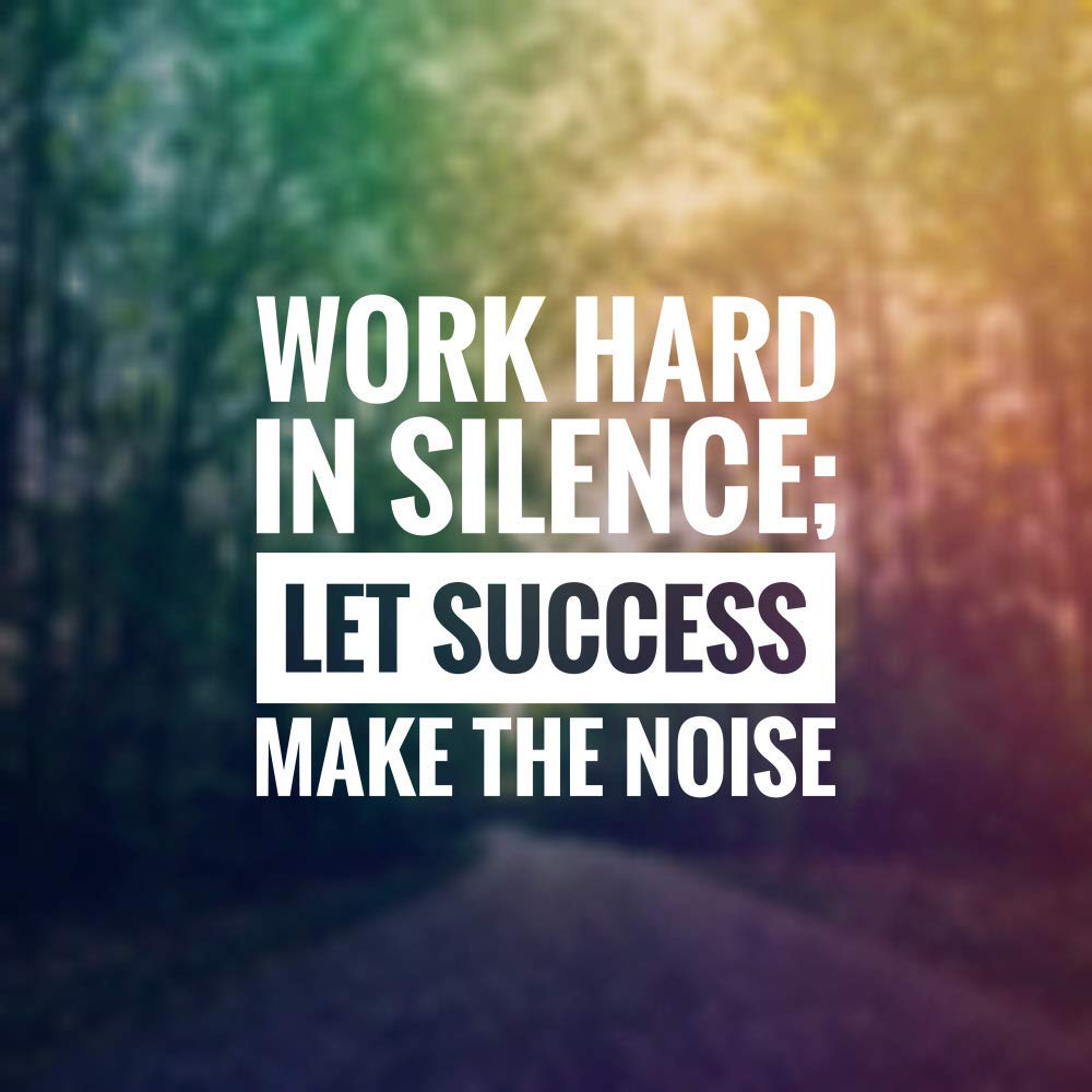 Buy 5 Ace Work Hard in Silence  Motivational Quotes Inspirational Quotes Gym  Poster  Wall Sticker Paper Poster(Size:12x18 inch), Multicolor Online at  Low Prices in India - Amazon.in