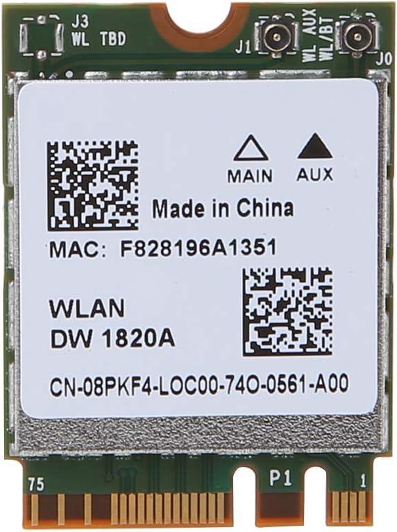 Ontracker Wifi Card Wifi Stick DW1820A BCM94350ZAE 802.11ac Bluetooth 4.1 867Mbps M.2 NGFF WiFi Card for De-ll Laptops