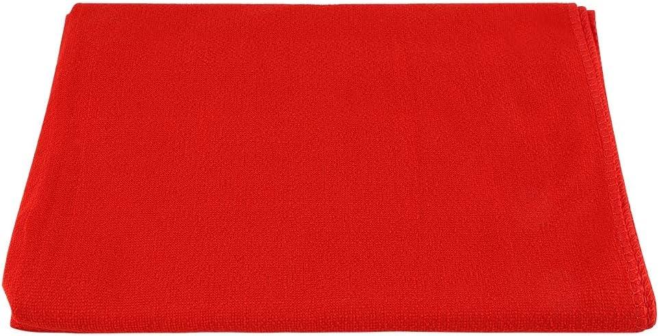 Duokon Viaje Sandbeach Secado r/ápido Microfibra Toalla de ba/ño Ducha M/áquina Suave Toalla Lavable Manta 140 Rojo 70 cm