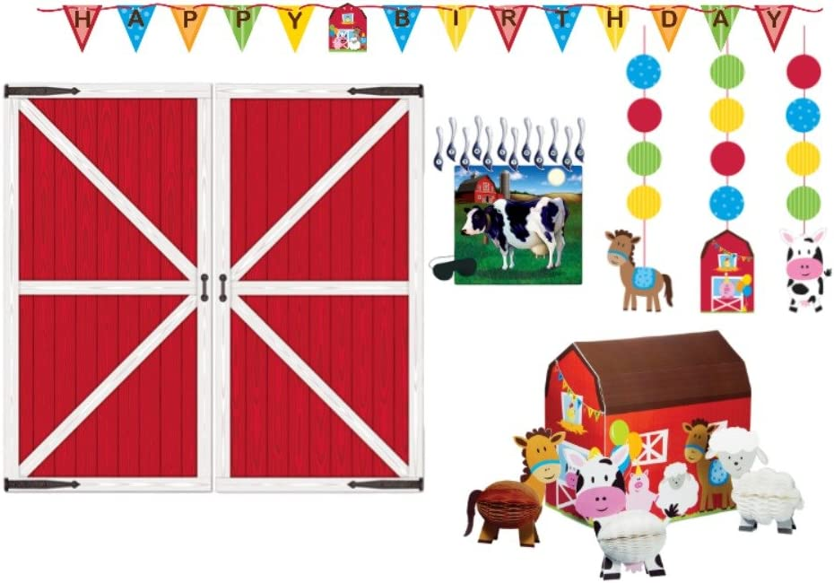 Farm Animal Theme Kids Party Farm Animal Centerpiece Set of 5 Cutouts