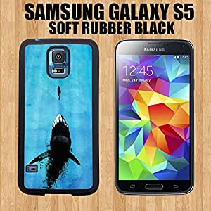 Cute painting Watch Out For Sharks Custom made Case/Cover/Skin FOR Samsung Galaxy S5-Black- PC Case