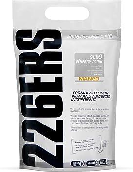 226ERS Sub9 Energy Drink, Bebida Energética con Proteína Whey, BCAAs, Amilopectina, Taurina y L-Carnitina, Mango - 1000 gr