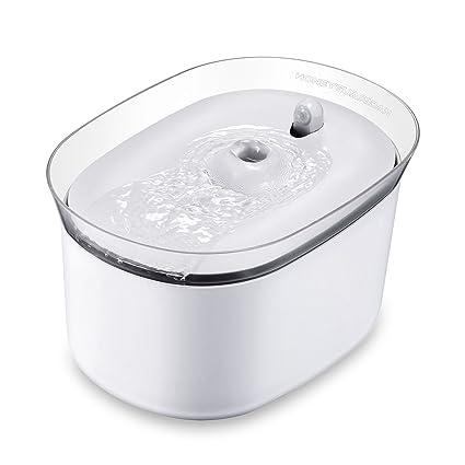 HoneyGuaridan Distributeur Fontaine d'eau Automatique et Intelligent pour Animaux Domestiques avec induction infrarouge, conçu pour les Chiens et les Chats - Pack de 3 filtres à charbon