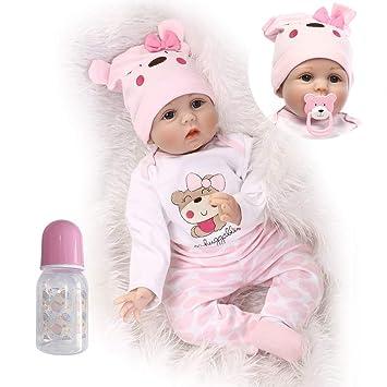 Amazon.es: iCradle 22 Pulgadas 55cm Adorable Bebe Reborn Niña Muñeca ...