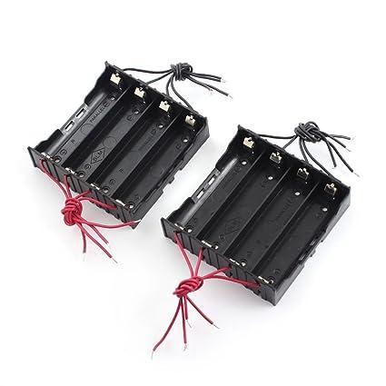 Caja soporte de bateria 4 x 3.7V 18650 - TOOGOO(R)2 Pzs