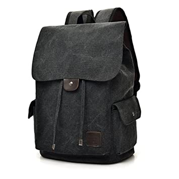 be7a2372785 Women Men Drawstring Backpack Canvas Backpack School Bag Laptop Backpack  Travel Rucksack Satchel Daypack Camping Hiking