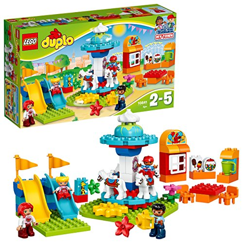 LEGO DUPLO Town Fun Family Fair Building Kit (61 Piece), Multicolor