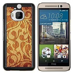 "Be-Star Único Patrón Plástico Duro Fundas Cover Cubre Hard Case Cover Para HTC One M9+ / M9 Plus (Not M9) ( Modelo del papel pintado tela de materia textil Diseño Brown"" )"