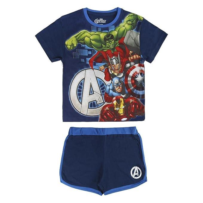 Avengers - Conjunto Pijama Manga Corta 2 piezas 100% algodón (4 años)