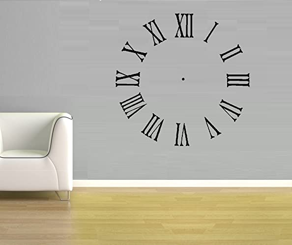 Amazoncom Roman Numeral Clock Wall Decal 20 x 20 By