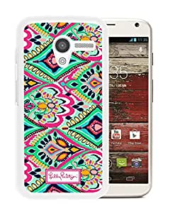 Motorola Moto X Lilly Pulitzer 14 White Screen Cellphone Case Sweet and Unique Style