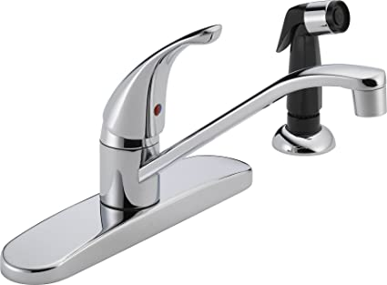 peerless single handle kitchen sink faucet with side sprayer chrome rh amazon com single handle kitchen faucet leaking at base single handle kitchen faucet dripping