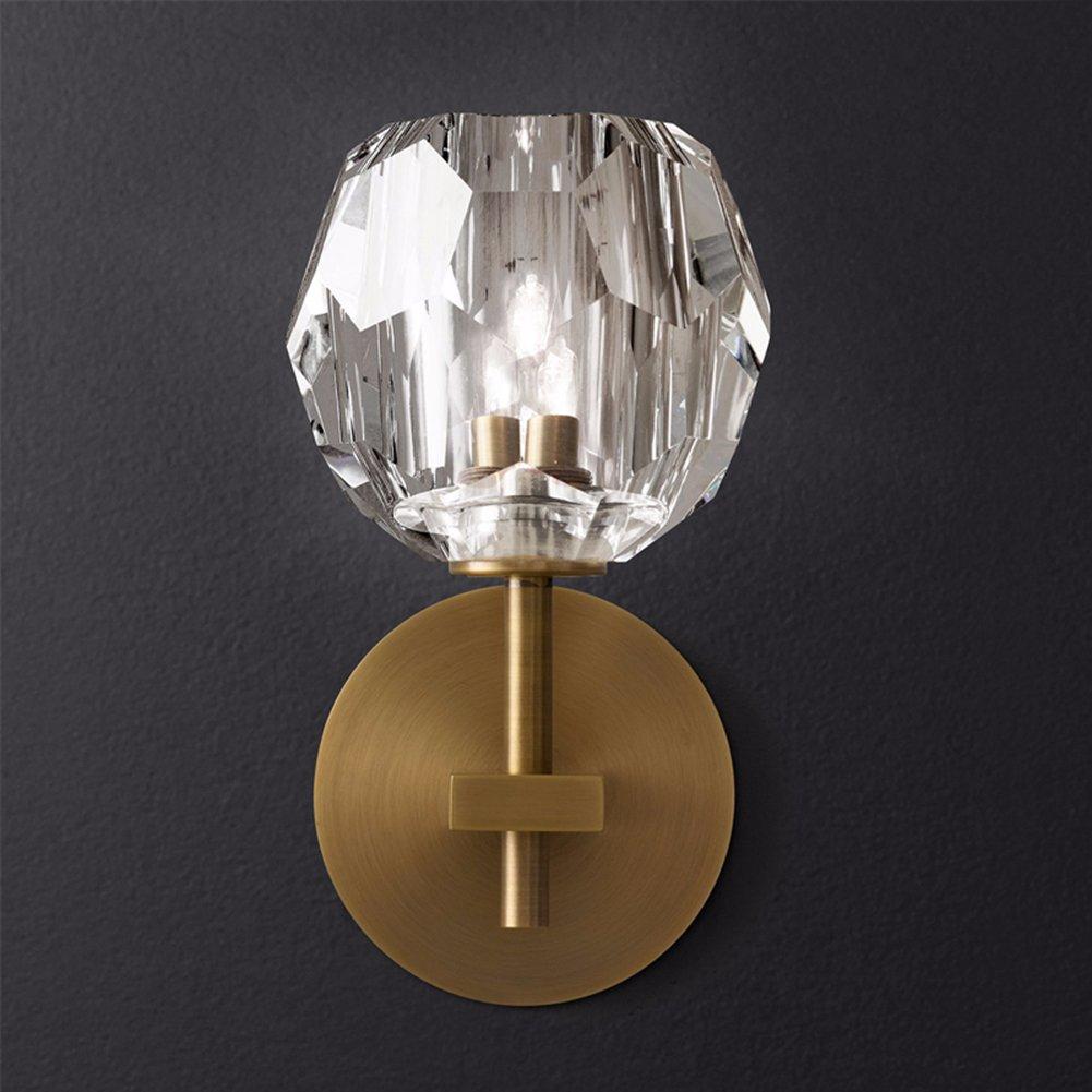 Yue Jia Modern Luxury Wall Sconce Bronze Body Crystal Globe Shade Wall Sconce (1 Piece) W5'' x H9''