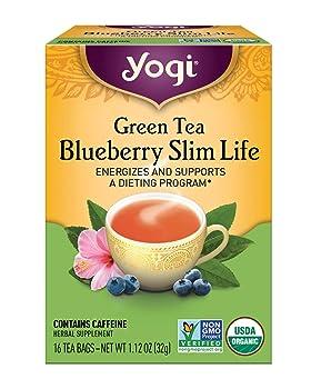 Yogi detox green tea with blueberry flavor