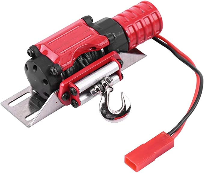 RC Winch Vensans 1//10 Scale RC Model Vehicle Crawler Car Accessory Metal Winch with Remote Controller