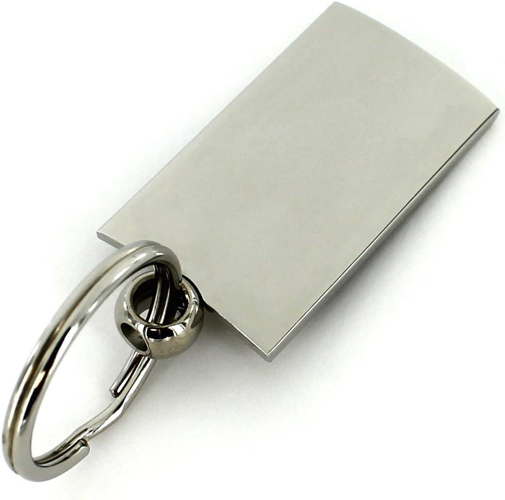 Ford Mustang 5.0 Gray Spun Brushed Metal Key Chain