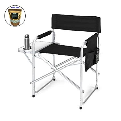 Folding Directors Chair With Side Table.Amazon Com Costway Folding Director S Chair Side Table