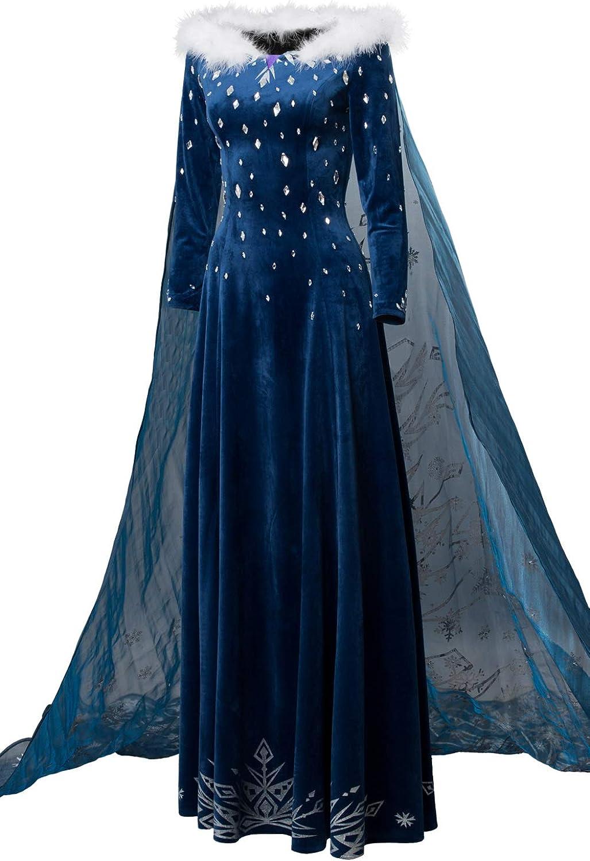 Frozen Princess Elsa Cosplay Costume Party Fancy Dress Elsa3# Age2 3 4 5 6 7 8 9