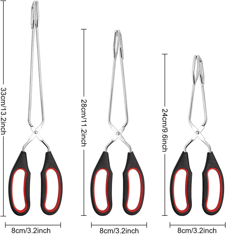 Pinzas de cocina de acero inoxidable de alta resistencia de 28 cm