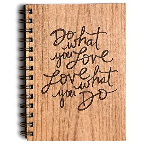 Do What You Love Laser Cut Wood Journal (Notebook / Birthday Gift / Gratitude Journal / Handmade)