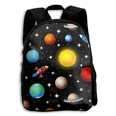 durable modeling Rockets And Planets Cool Design Boys Girls Popular Printing Toddler Kid Pre School Backpack Bags Lightweight
