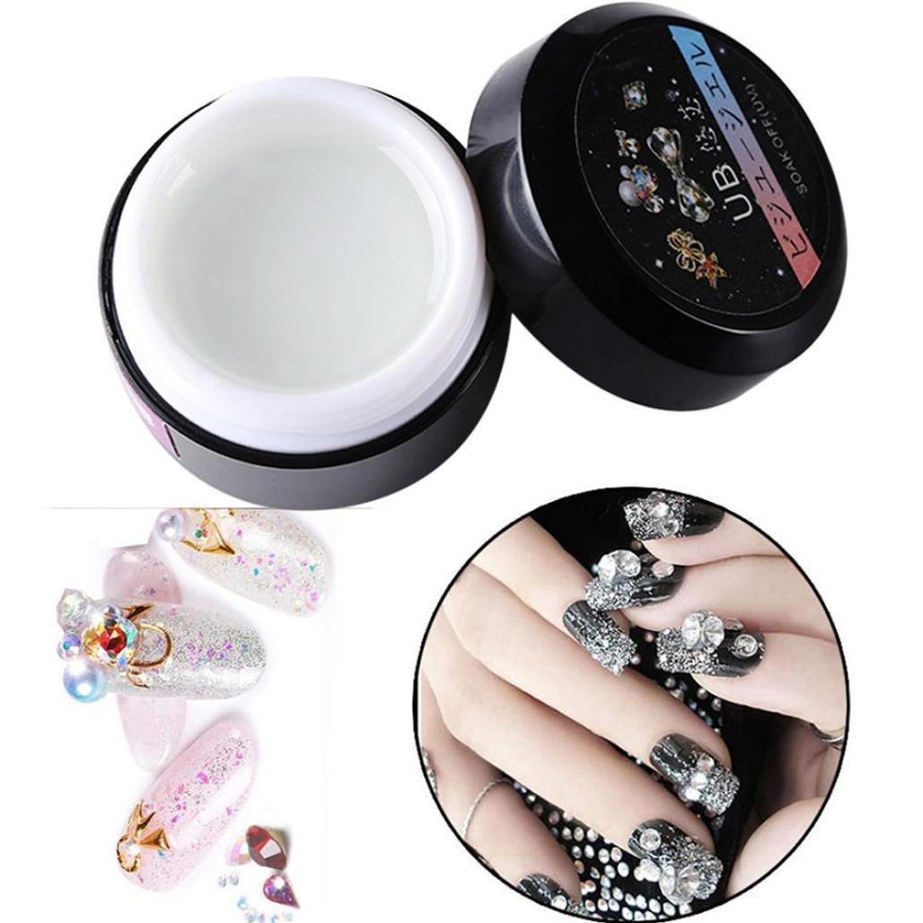 Pegar adhesivo pegamento de uñas, wawer Super reforzado resistente transparente Phototherapy pegamento para uñas arte decoración rainestone, clavos joyería, ...
