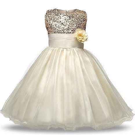 c038c58a1 Amazon.com: 0-12 Age Flower Girl Tutu Dresses for Weddings Elegant Gown  Baby Designer Kids Sequins Party Girl Children Flower Dresses,As Photo2,6M:  Kitchen ...