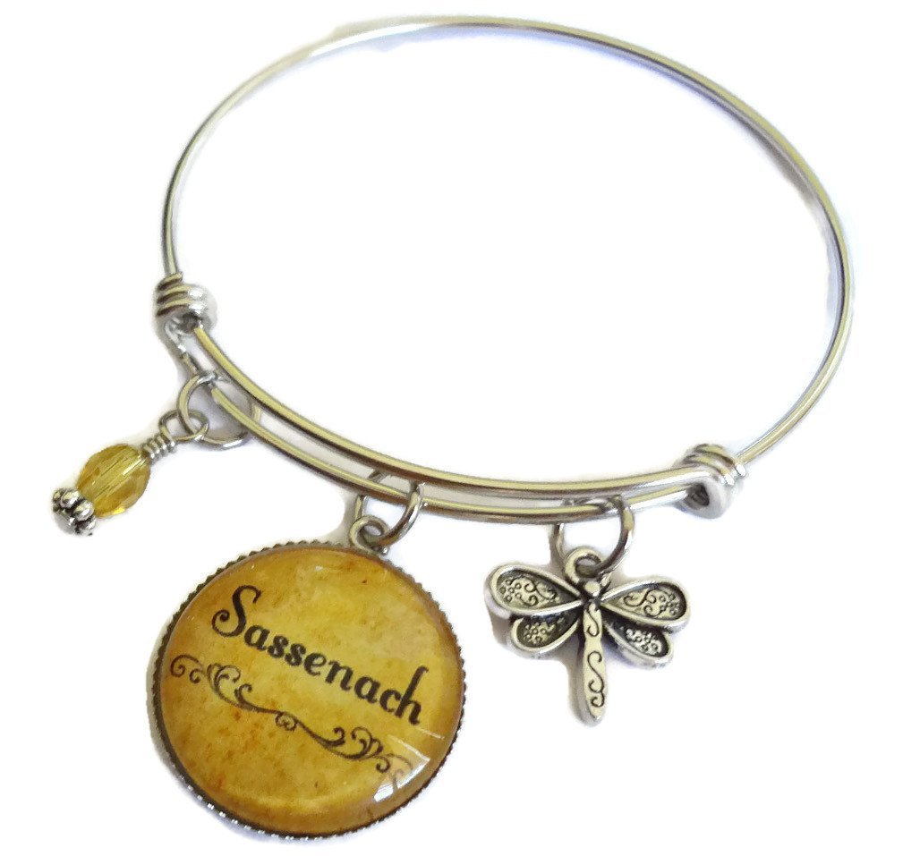 Sassenach Stainless Steel Expandable Bracelet inspired by Outlander- Adjustable Charm Bangle - Perfect gift for Girlfriend