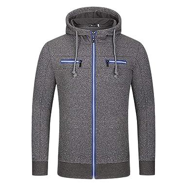 Manadlian Herren Parka Jacke Mantel Hooded Sweatshirt Mit Reißverschluss  Männer Winterjacke Herbst Winter Lange Ärmel Jacke cd90144c72