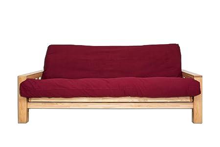 Bifold divano letto 140 x 200 cm, colore: rosso: Amazon.it ...