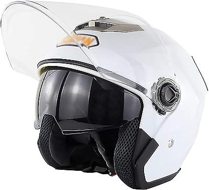 Amazon.es: BESHU Casco de moto · Casco de piloto retro para motociclista, motocicleta, monopatín, scooter, casco Vespa · Certificado ECE · Dos viseras (M, L, XL)