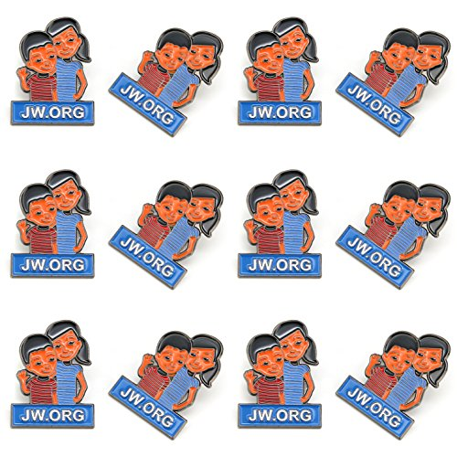 Gifts Convention - JW.org Caleb and Sophia Pin Become Jehovah's Friends-Kids pin-12 Pack