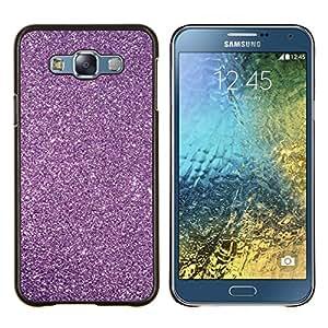 Glitter Nieve Estrellas del cielo Universo- Metal de aluminio y de plástico duro Caja del teléfono - Negro - Samsung Galaxy E7 / SM-E700
