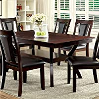 247SHOPATHOME Idf-3984W-T-7PC Dining-Room, 7-piece Set, Dark Cherry