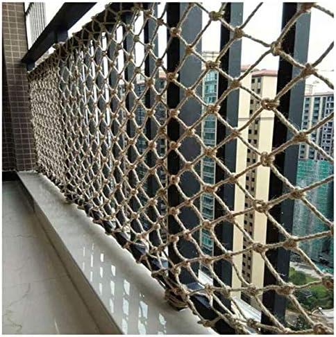 アウトドアクライミングフェンスネット、レトロヘンプネット、バルコニー階段のチャイルドセーフティネット、写真の壁の装飾ネット、テーマバーのパーティションネット、吊り橋ネットワーク1x5m (Size : 5*6M)