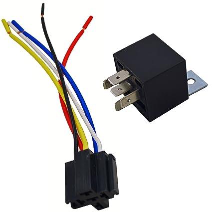 amazon com 12v 30 40a spdt bosch style automotive relays 5 wire rh amazon com Dpdt Relay 110V Relay