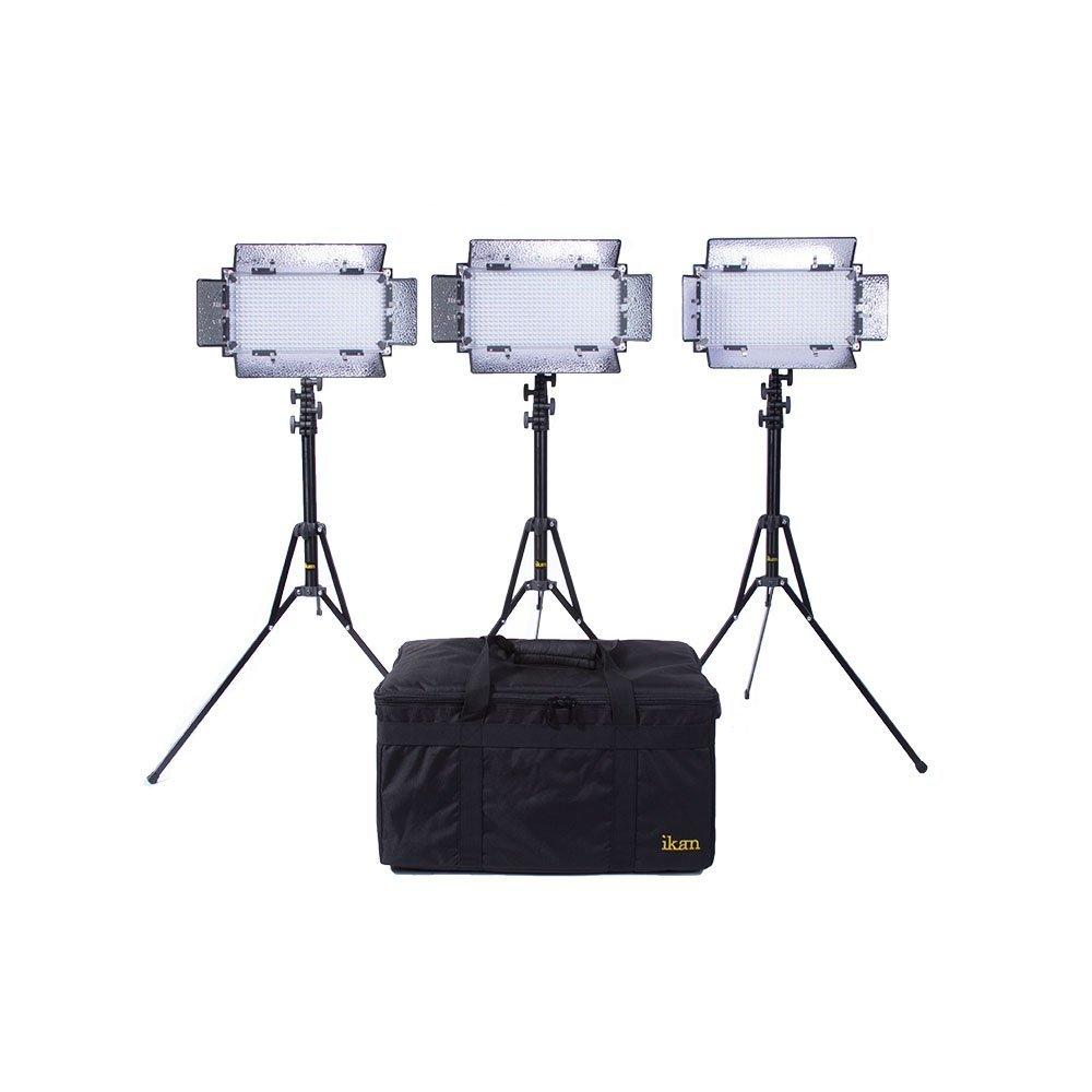 Ikan IB508-v2-KIT Bi-Color LED Studio Light (Black) (Renewed)
