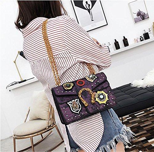 personnalité petit filles fourre sac poignée filles à bandoulière à sacs tout bandoulière sac féminin à Purple sac main haut Sac bandoulière rétro mode à de qB8Uawnp