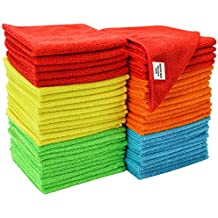 S & T 968601 Assorted 50 Pack Microfiber Cleaning Cloth 50 Pack